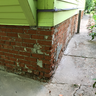 Stonework is durable, however if left unattended bricks tend to lose some of its durability. Most of the time, problem is a matter of aesthetics, but it's always better to take precautions to potential hazards. We provide (parging over brick) services to people who wish to improve their buildings aesthetics